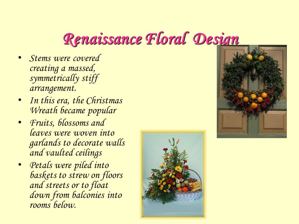 History Of Floral Design Ppt Video Online Download