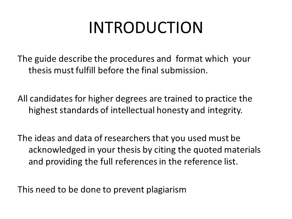 introduction for thesis presentation