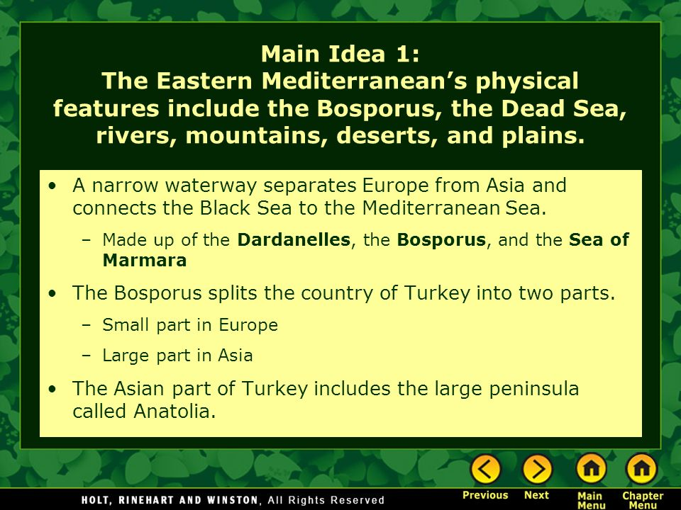 Chapter 17 – The Eastern Mediterranean - ppt download