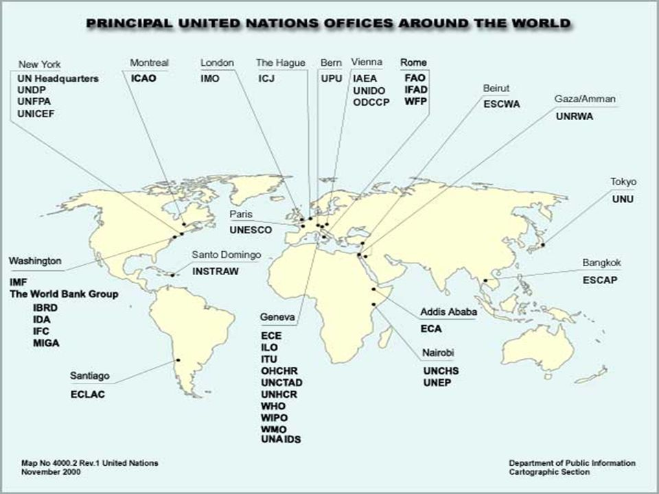 DOING BUSINESS WITH THE UNITED NATIONS (UN) - ppt download on united nations on a world map, geneva on world map, united nations headquarters map, agenda 21 map,