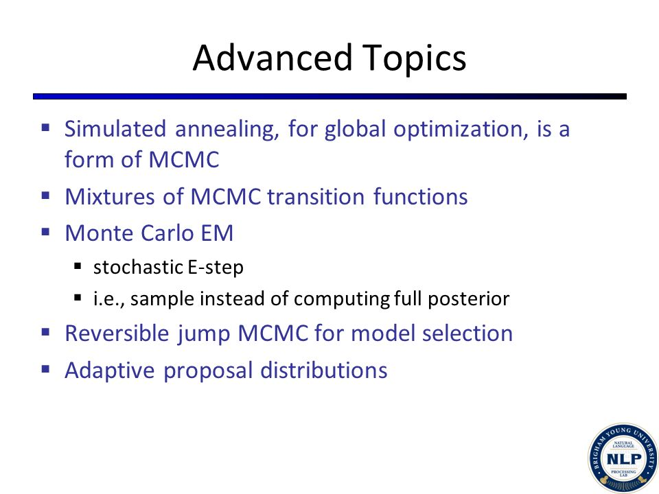 Lecture #9: Introduction to Markov Chain Monte Carlo, part 3 - ppt
