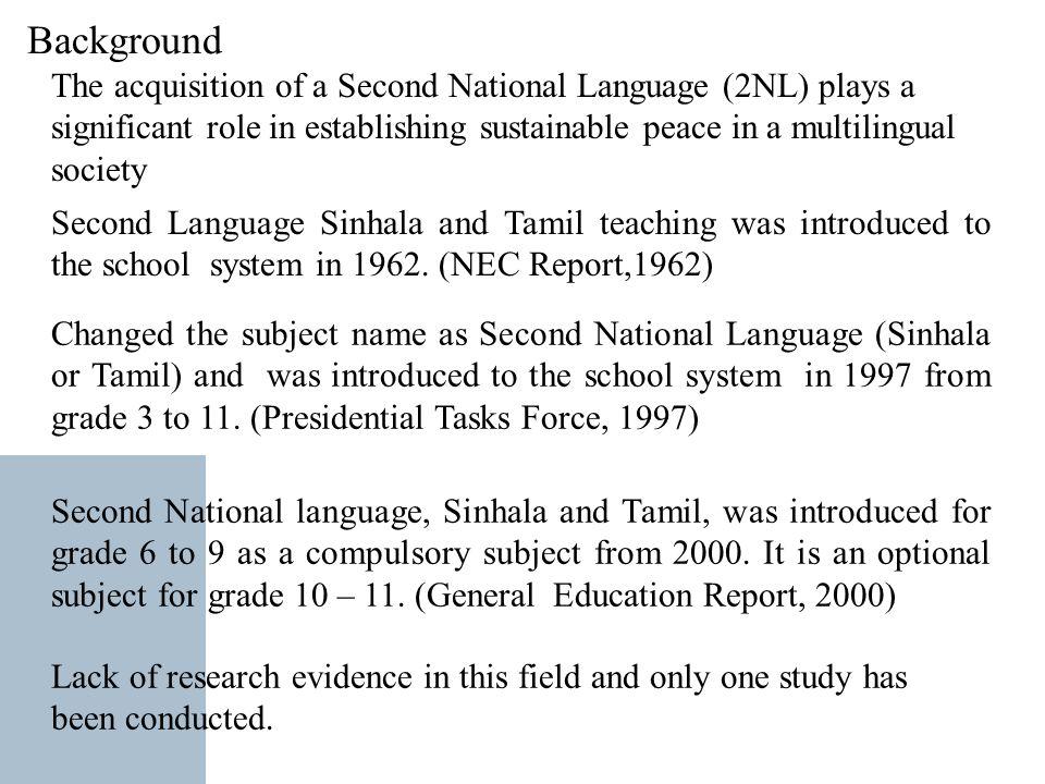 Teaching Second National Language in Tamil Medium Schools: The Case
