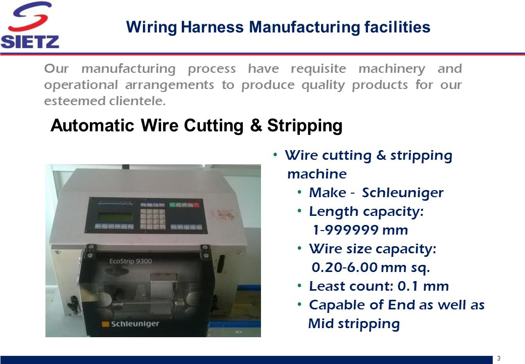 Wiring Harness Products - ppt video online download