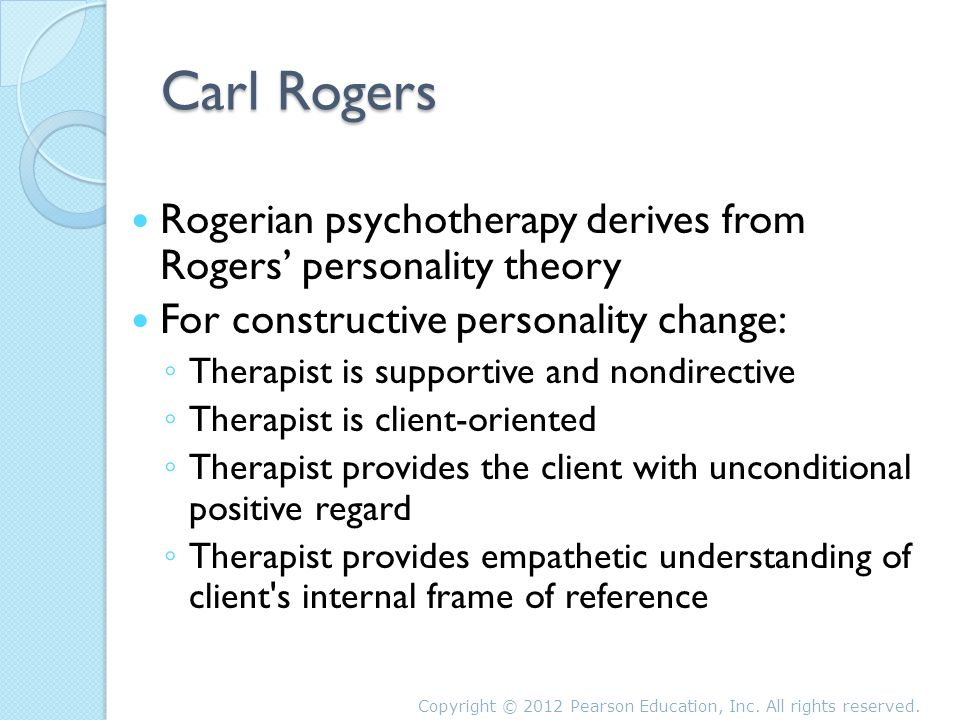 freuds and rogers theories of personality psychotherapy Famous psychological theorists, sigmund freud and carl rogers, possibly two of the greatest thinkers of our time, both made much advancement in the field of psychology with personality theories student beh/225 august 3, 2014 intructor personality theories in history, many psychologists have.