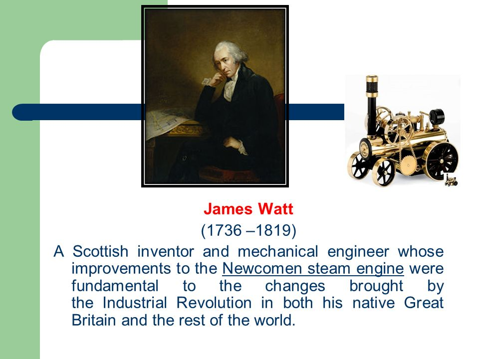 how did james watt contribute to the industrial revolution