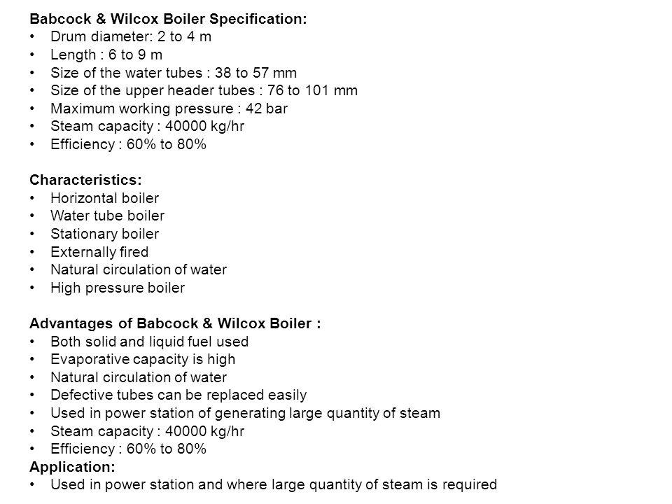 Cochran Boiler Specification: - ppt video online download