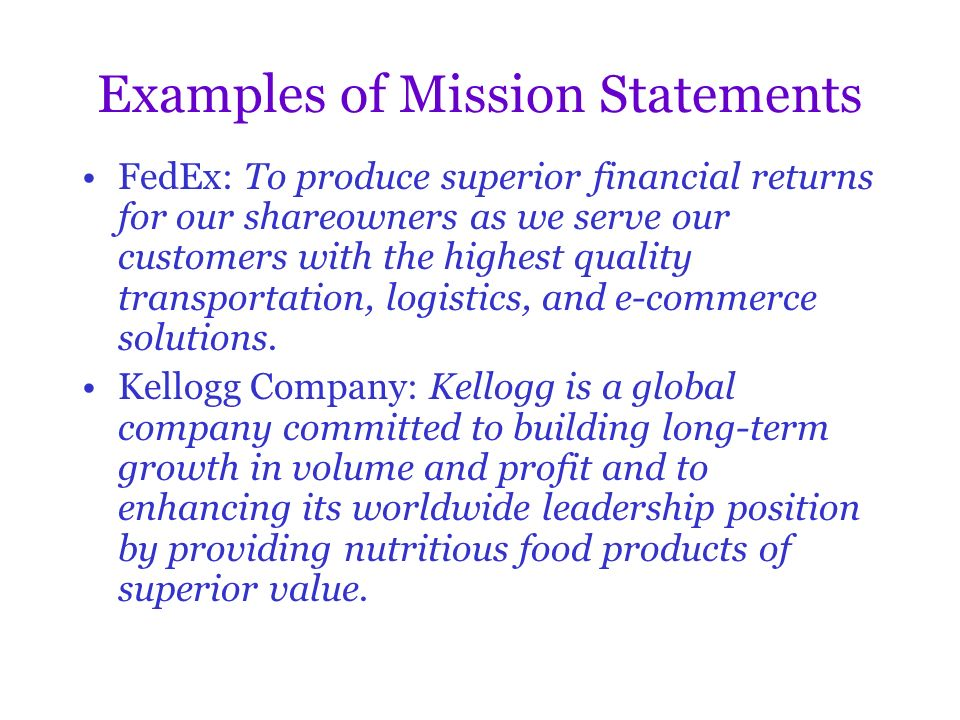 Developing A Mission And Understanding Strategy Ppt Video Online