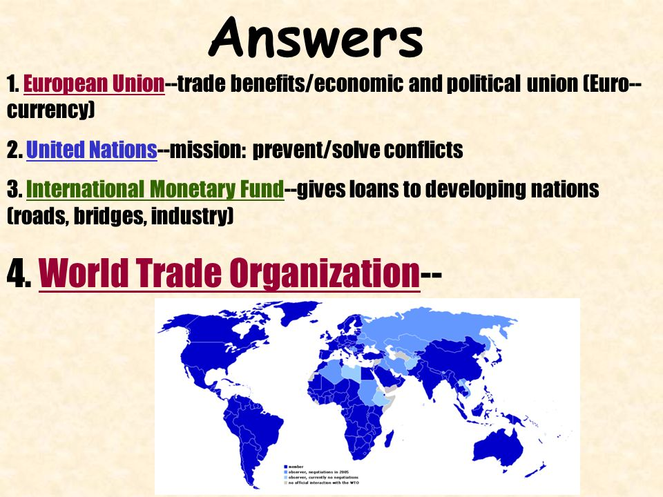 imf wto and world bank role and objectives Wto is world trade organisation, whose main objective is liberalisation of international trade ie to remove all kinds of barriers in trade between nations for which number of agreements are there under wto for trade in goods and services, for intellectual property rights and investment.