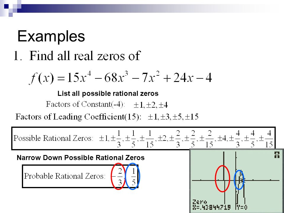 how to find rational zeros