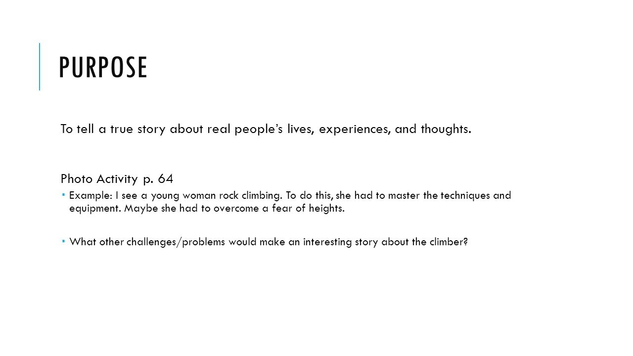 Autobiographical Narrative Ppt Download