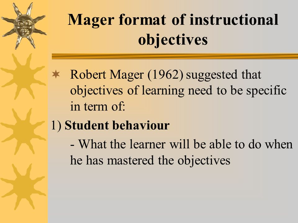 Instructional Objectives Ppt Video Online Download