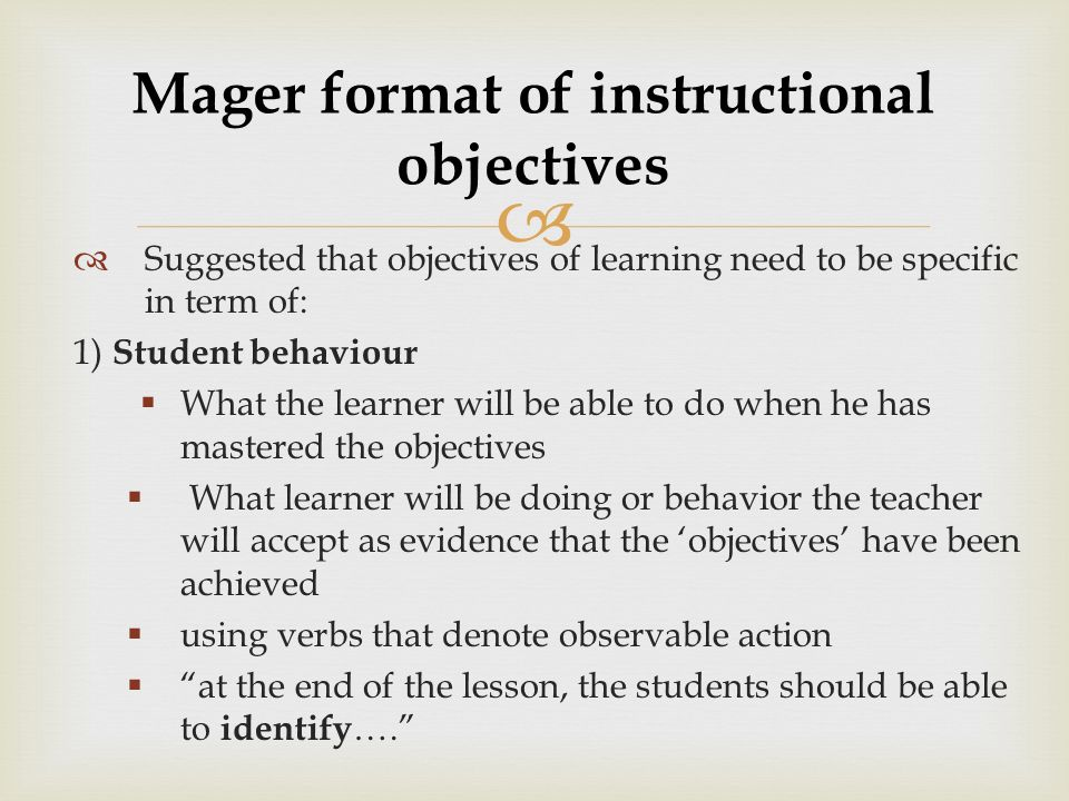 Instructional Objectives Ppt Download