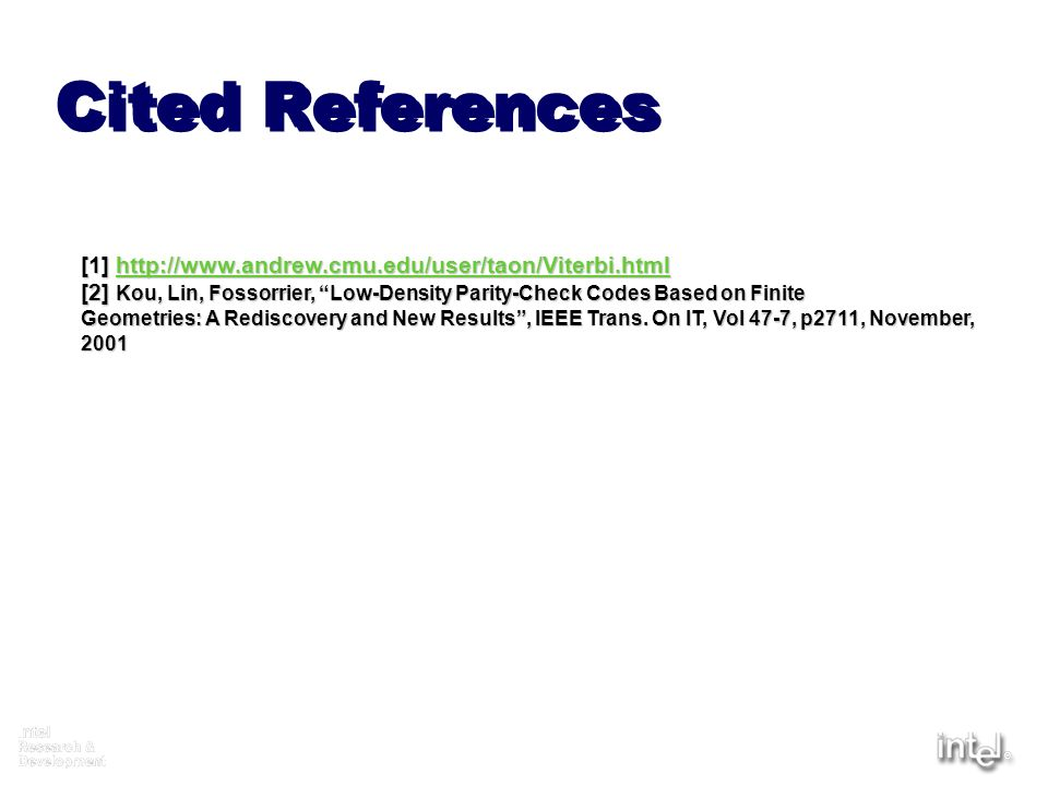 Cited References [1]