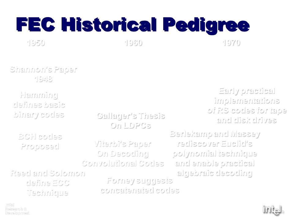 FEC Historical Pedigree