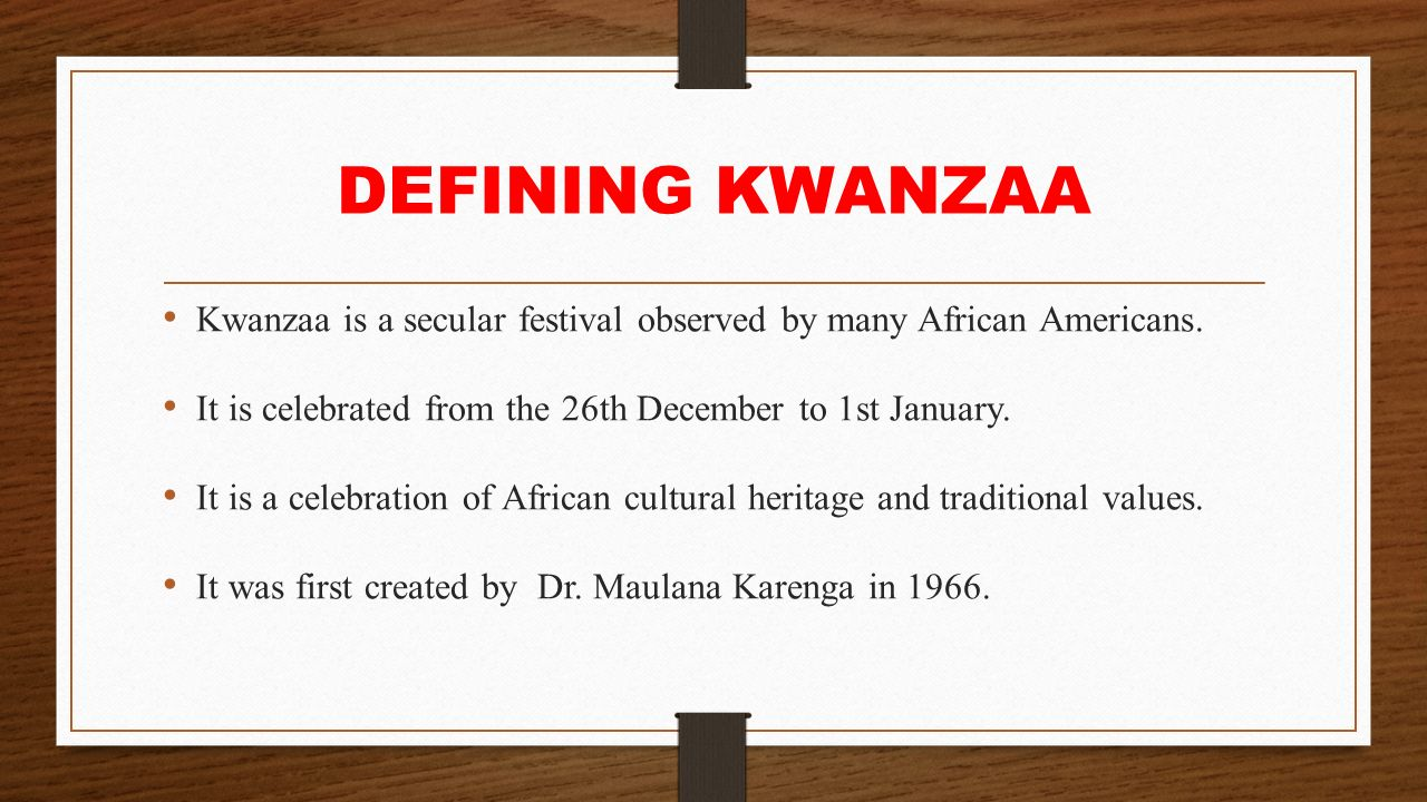 the importance of creation of kwanzaa by dr ron maulana karenga Harlem community newspapers personal finance 5 things to put on your year-end financial checklist harlem community newspapers | december 24, 2015.