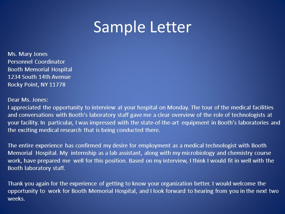Thank you letter following an interview promptly within 2 business 4 sample spiritdancerdesigns Choice Image