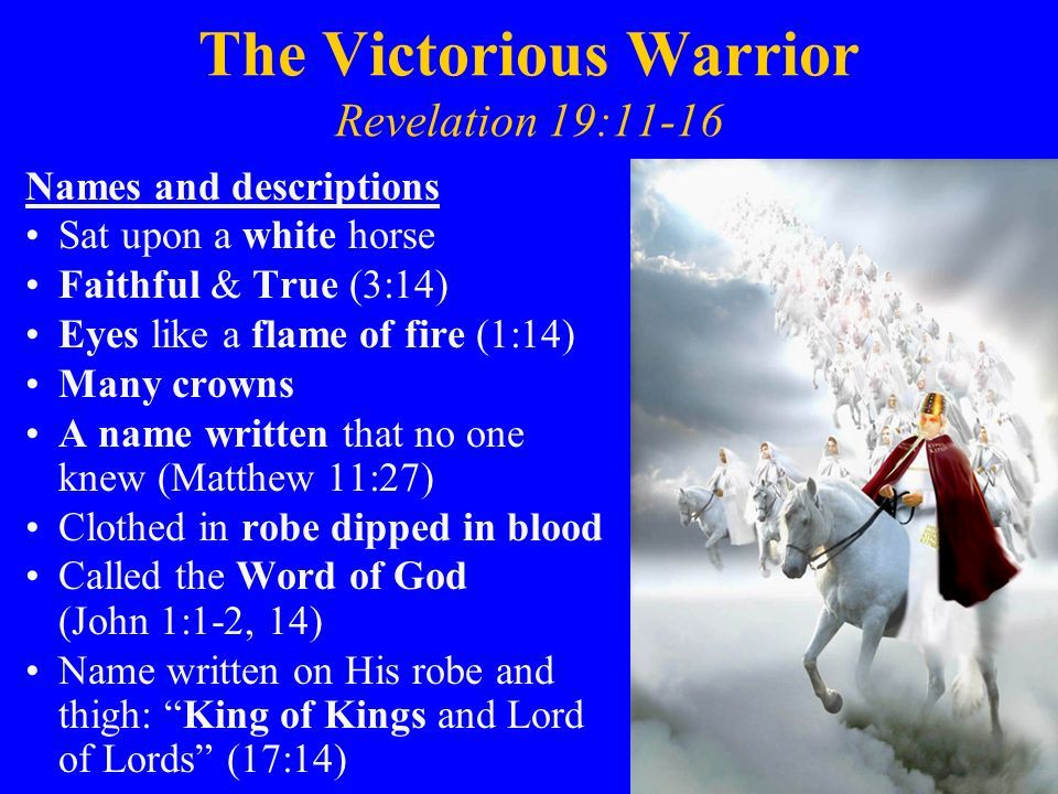 Revelation 19:1-21 The Victory, Reign & Judgment of Christ