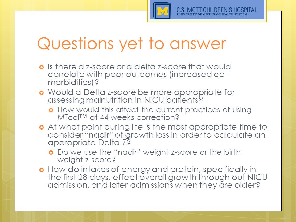 Defining Malnutrition in the NICU: The Beginning - ppt download