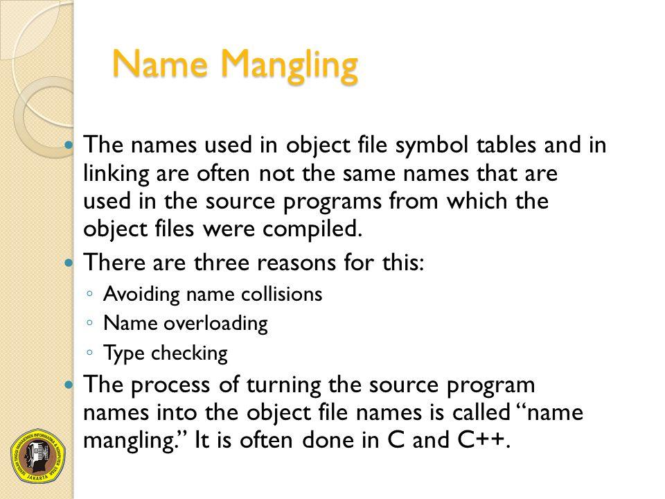 Chapter 13 Symbol Management In Linking Ppt Video Online Download