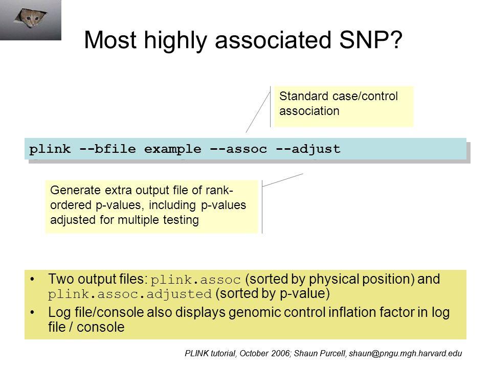 PLINK / Haploview Whole genome association software tutorial
