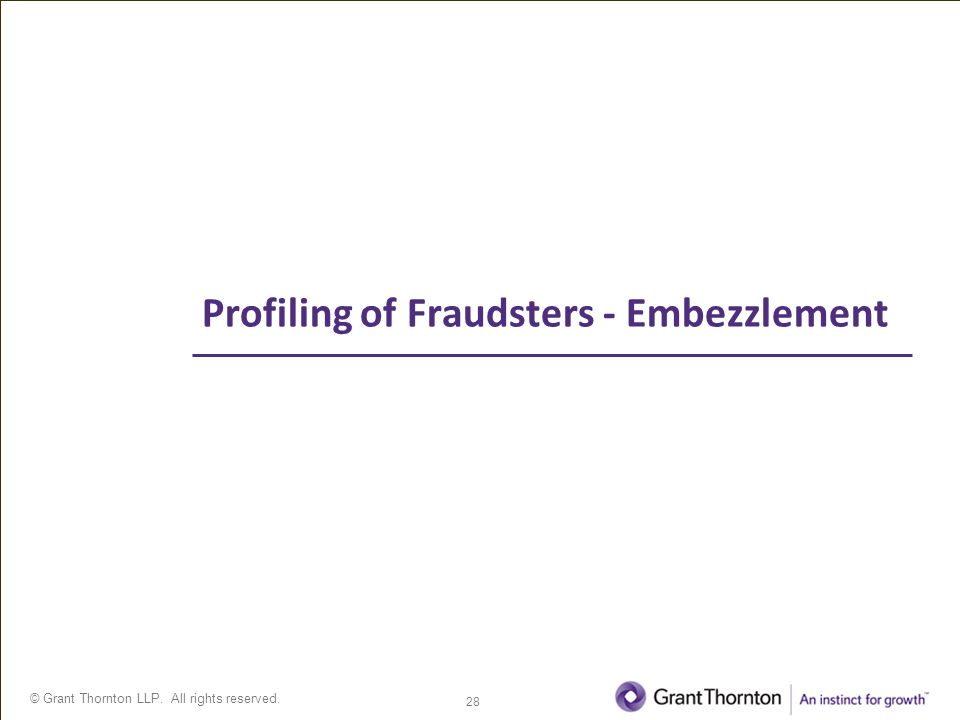 Fraud Awareness Profiling Fraudsters and Current Fraud