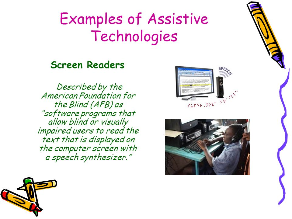 Assistive And Adaptive Technologies In Educational Settings Ppt