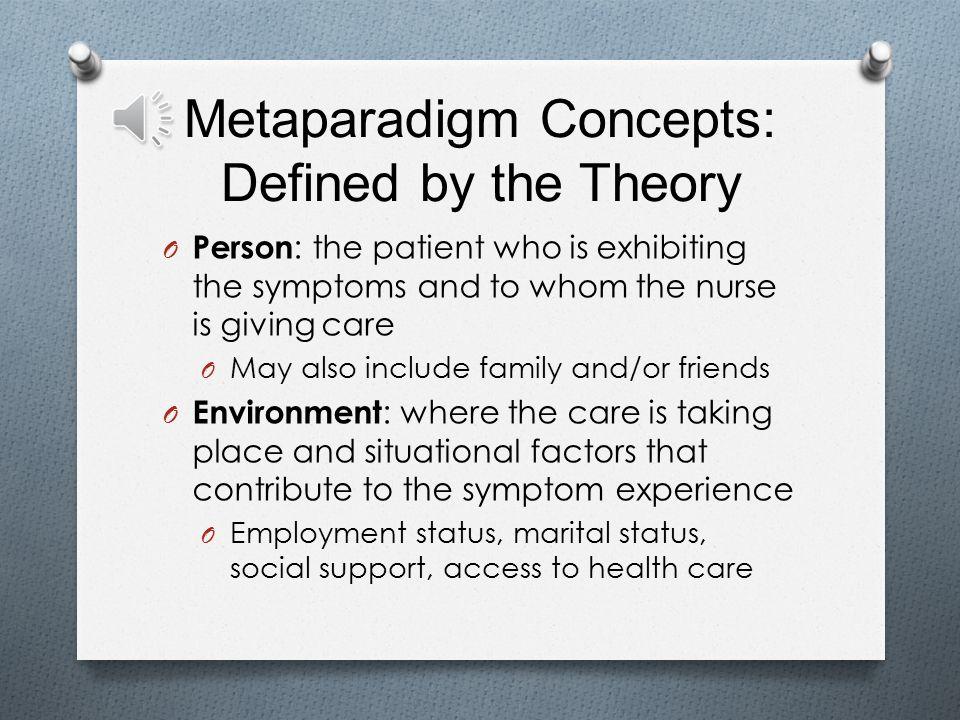 what is the metaparadigm of nursing