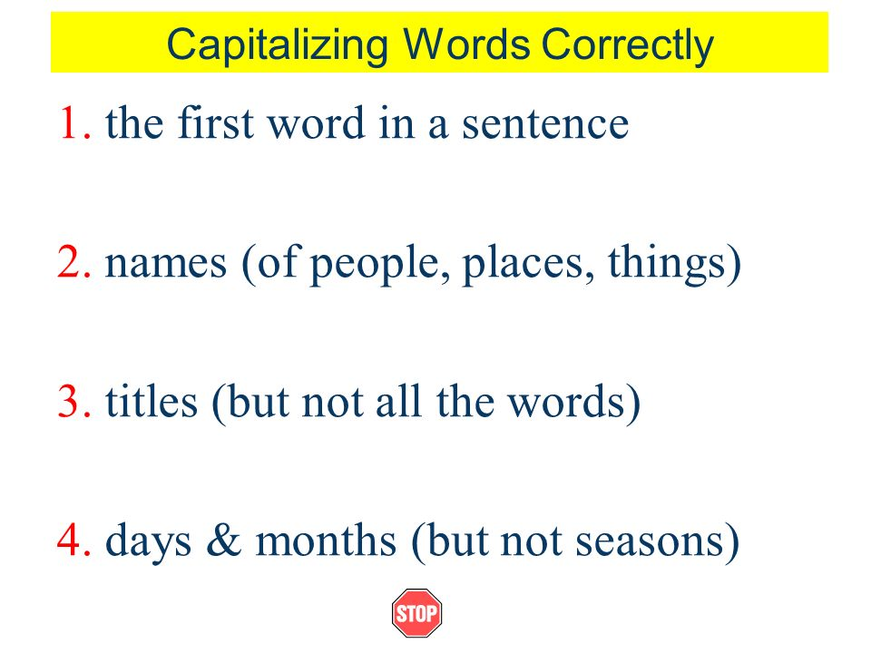 Using Capital Letters ppt video online
