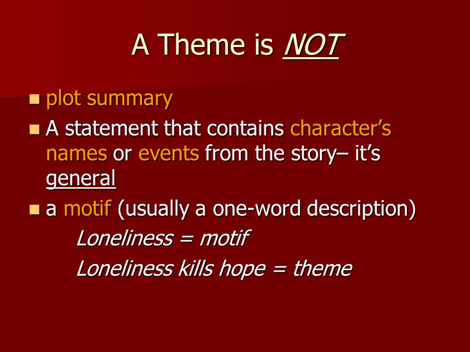 Theme in Literature  - ppt video online download