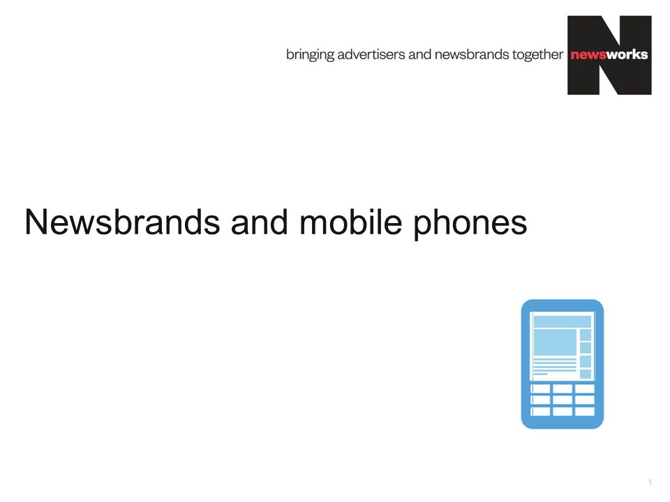 Newsbrands and mobile phones