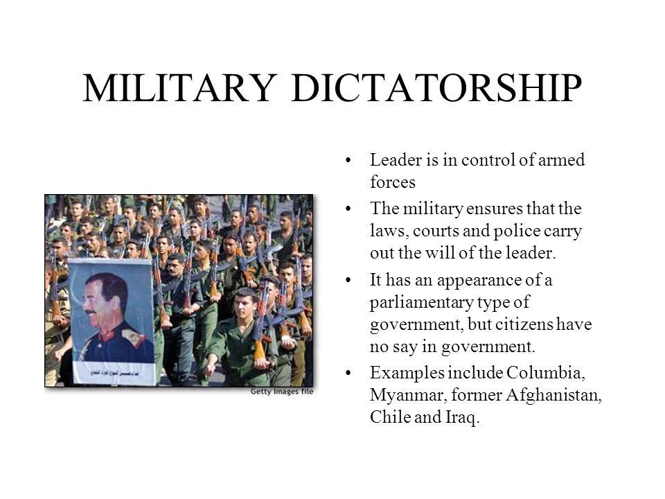 Democracy vs dictatorship / types of government.
