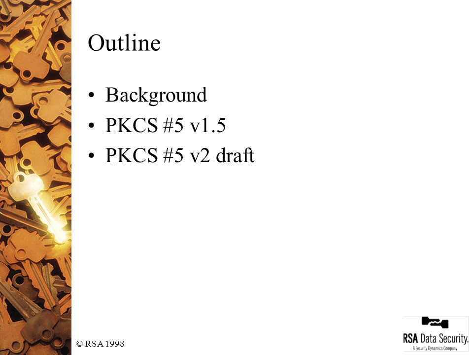 PKCS #5: Password-Based Cryptography Standard - ppt video