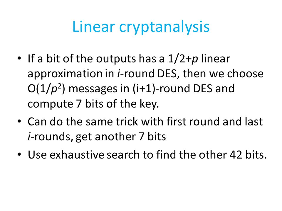 Linear Cryptanalysis of DES - ppt download