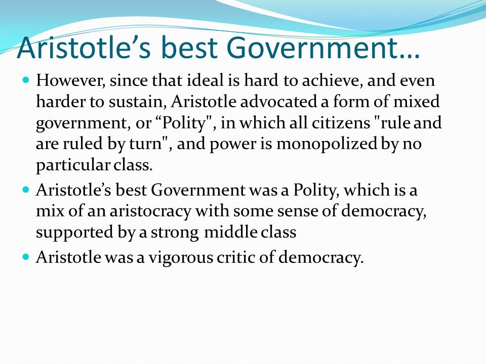 aristotle theory of state