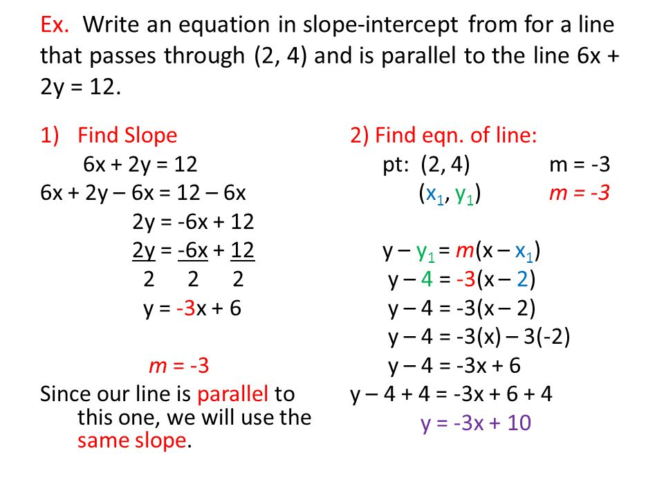 45 The Point Slope Form Of An Equation Of A Line Ppt Download