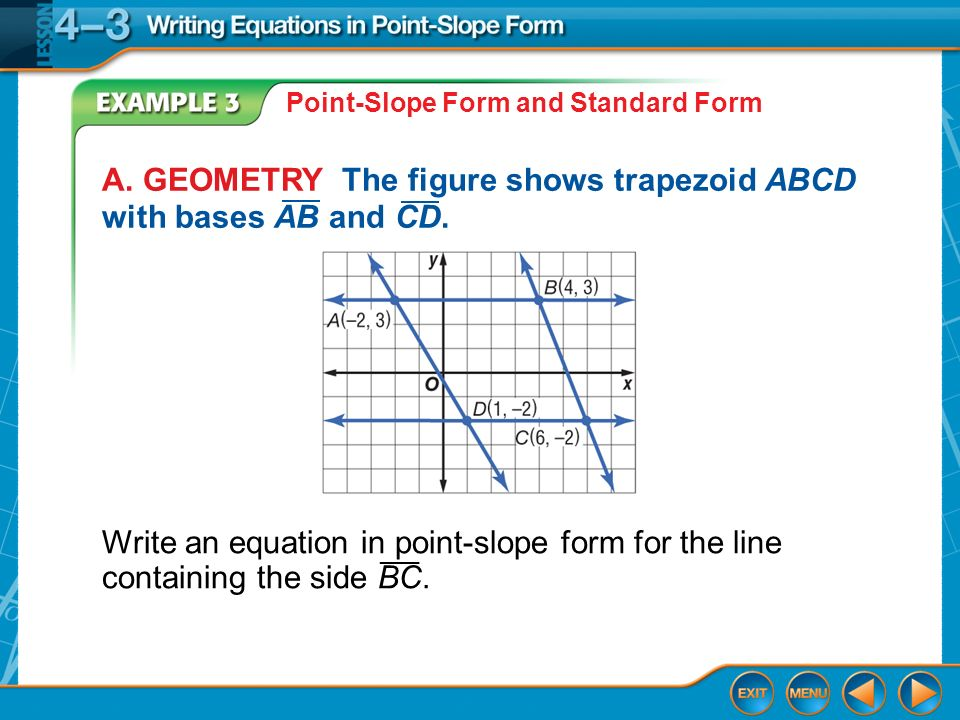 Writing Equations In Point Slope Form Ppt Download