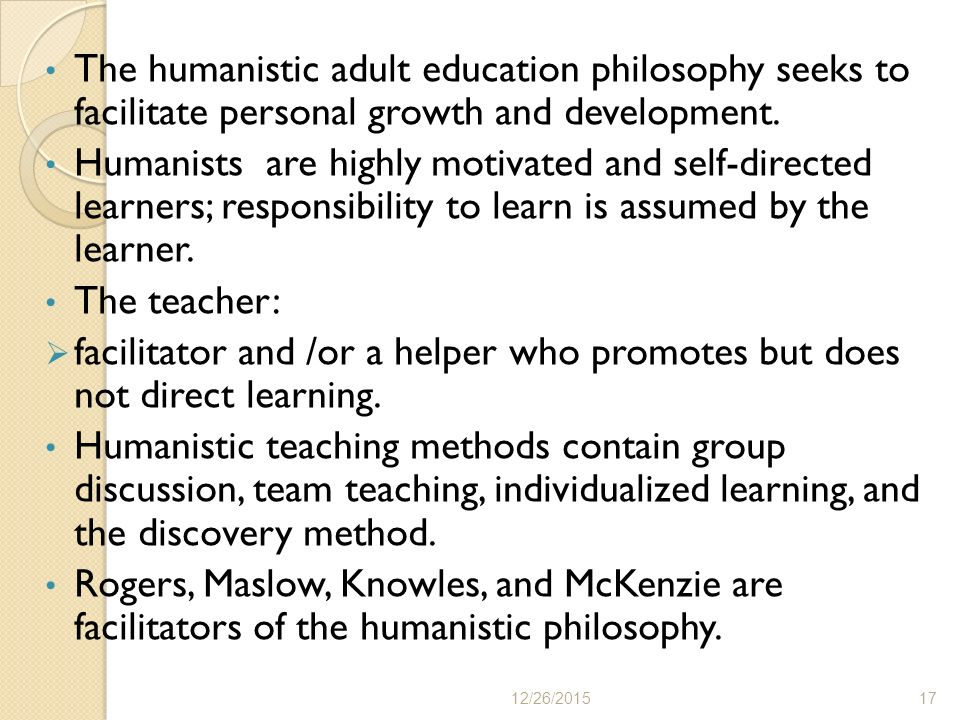 Philosophy of adult education