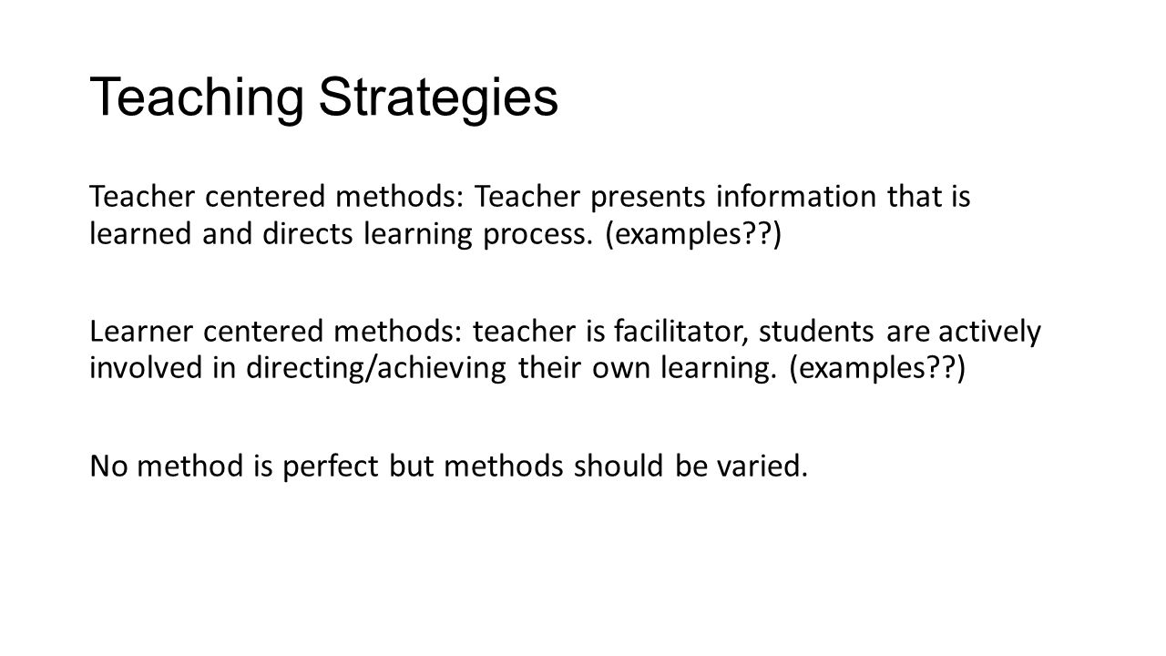 Teaching Strategies Ppt Download