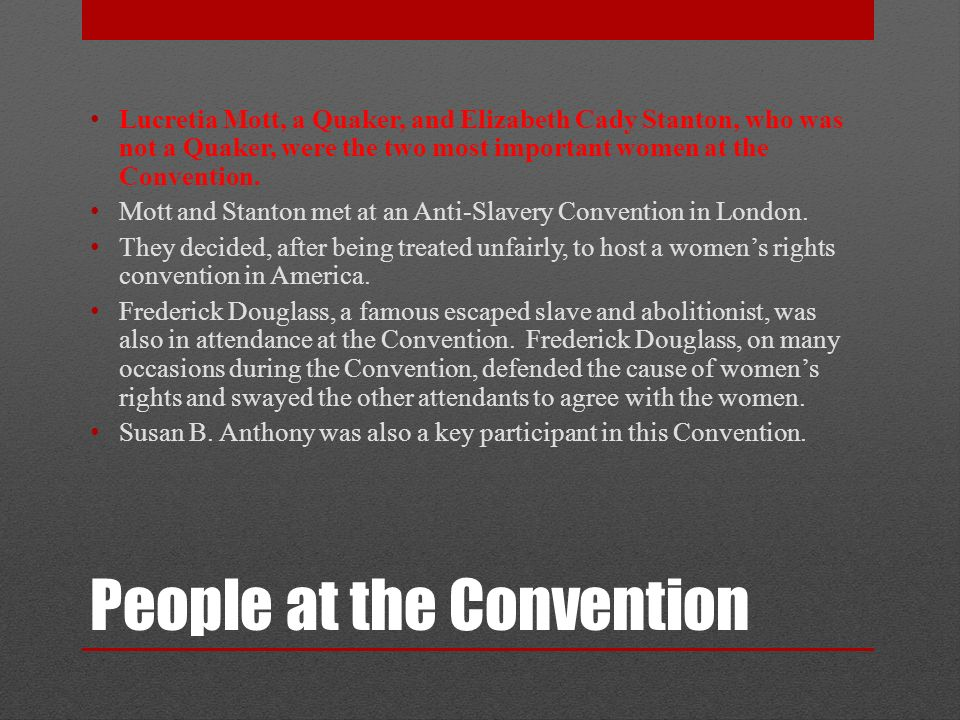 why is the seneca falls convention important