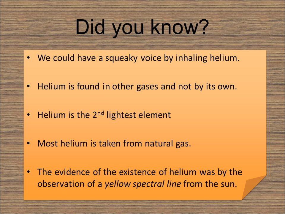 Helium Name Helium Atomic Number 2 Element Symbol He Ppt