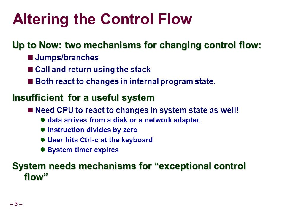 Exceptional Flow Control Part I - ppt download