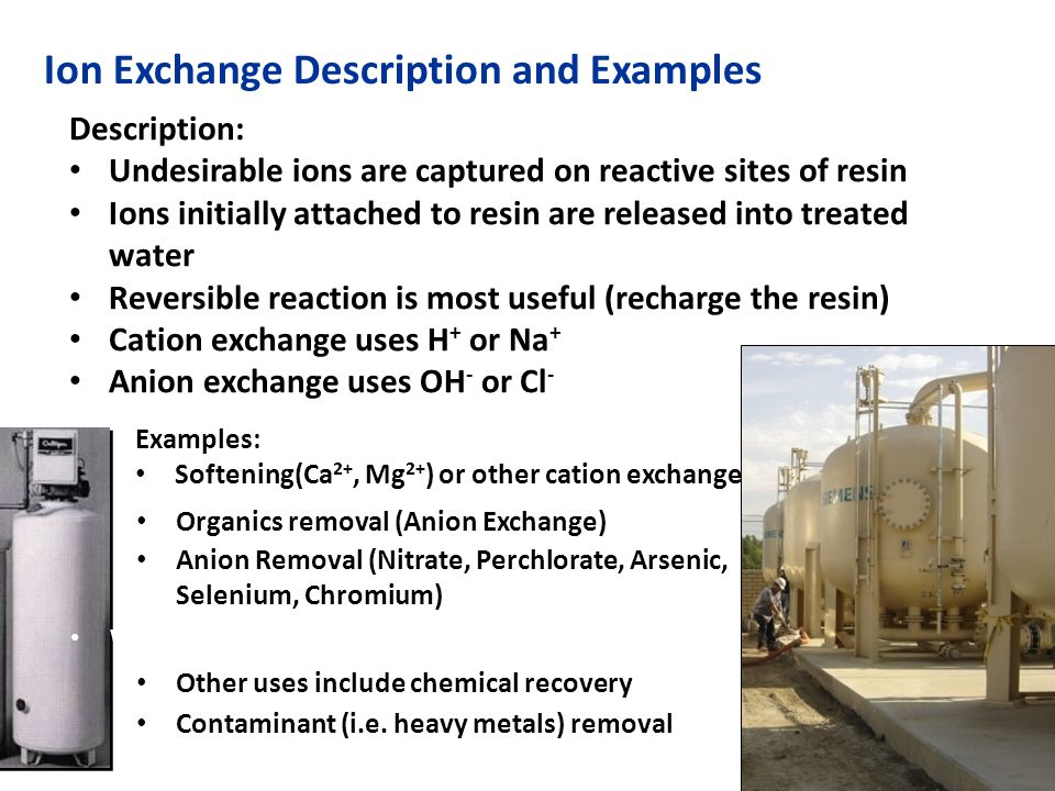 Anion Exchange For Drinking Water Treatment Ppt Video