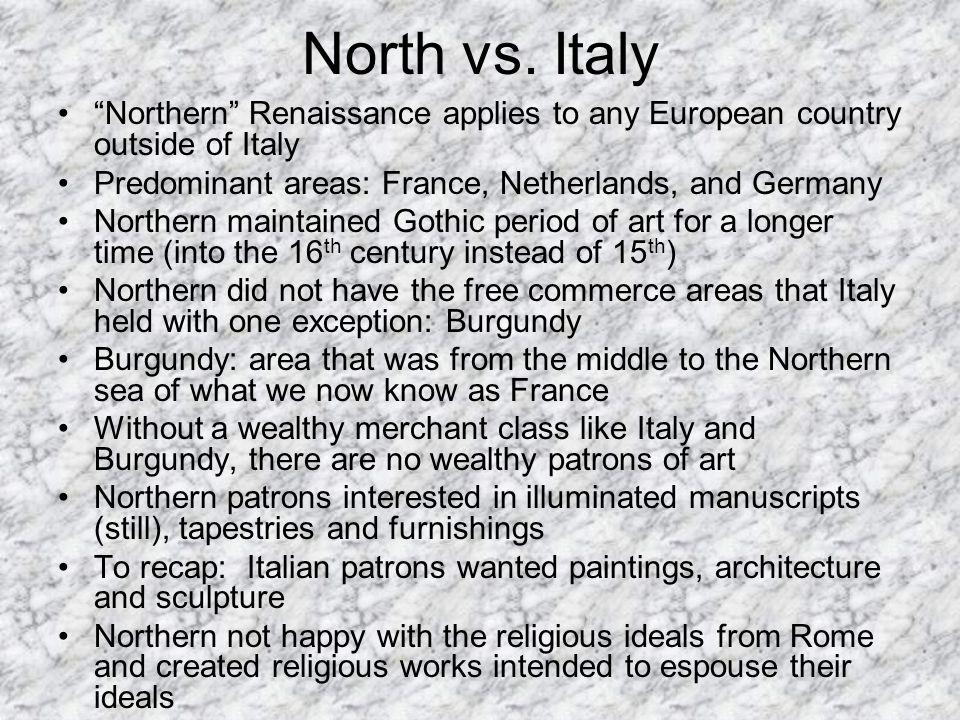 similarities between italian and northern renaissance