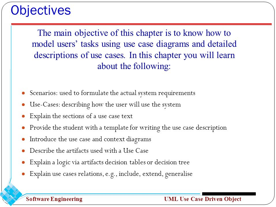 Object oriented analysis uml use case driven object modeling ppt 2 objectives ccuart Images