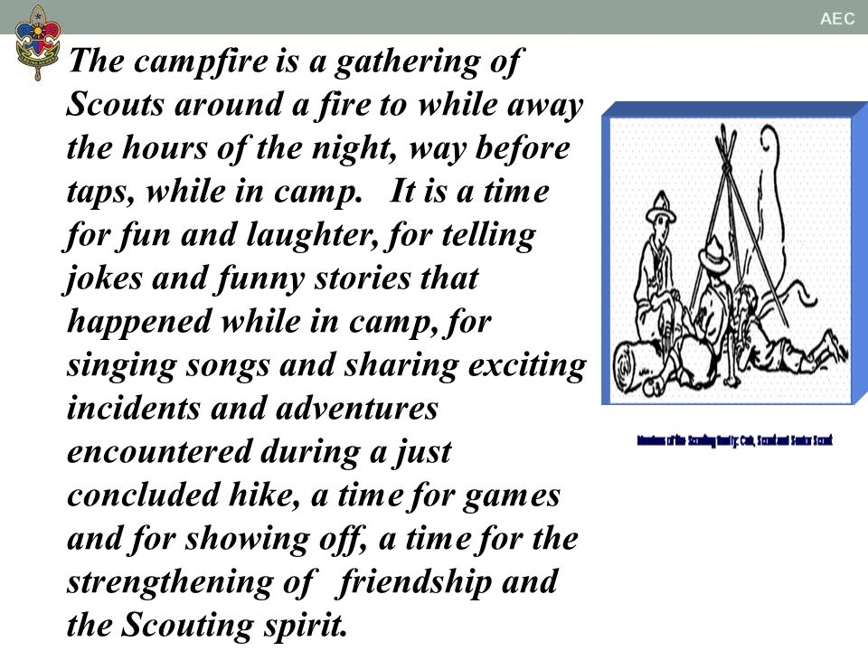 CAMPFIRE CREW LEADER TRAINING COURSE Course Recognition no