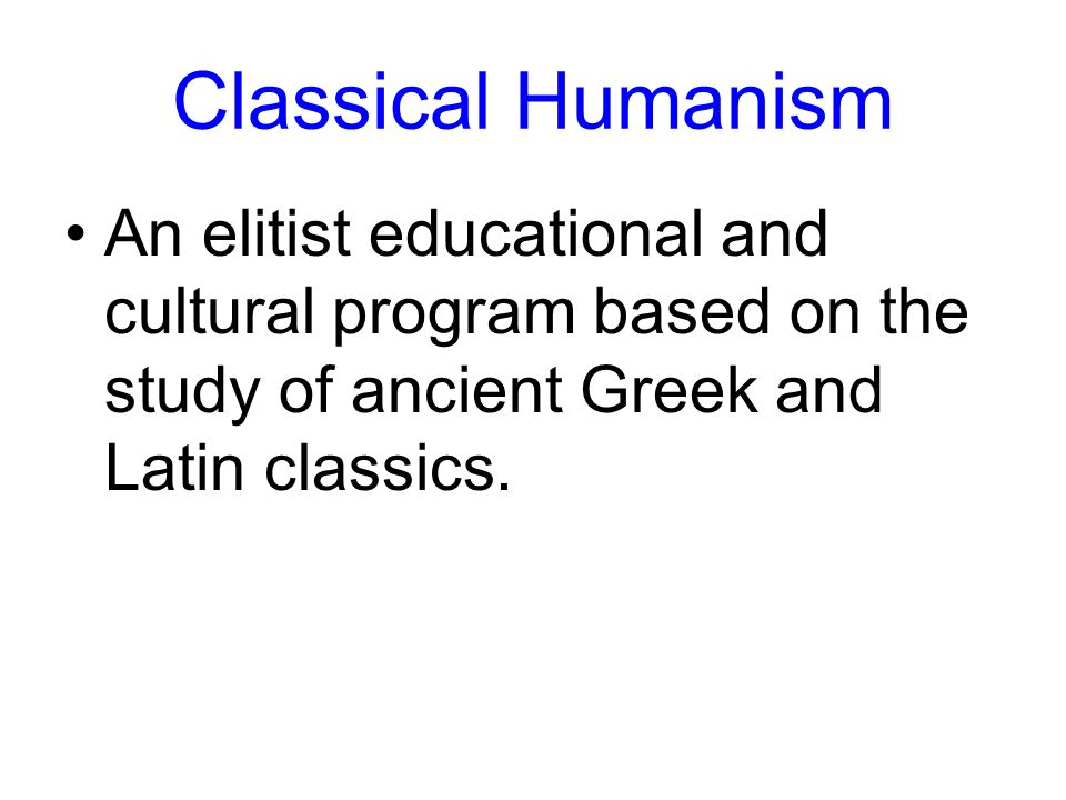 what is classical humanism