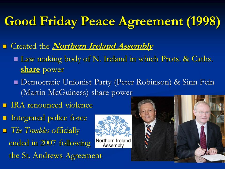 The Troubles Of Northern Ireland Ppt Download