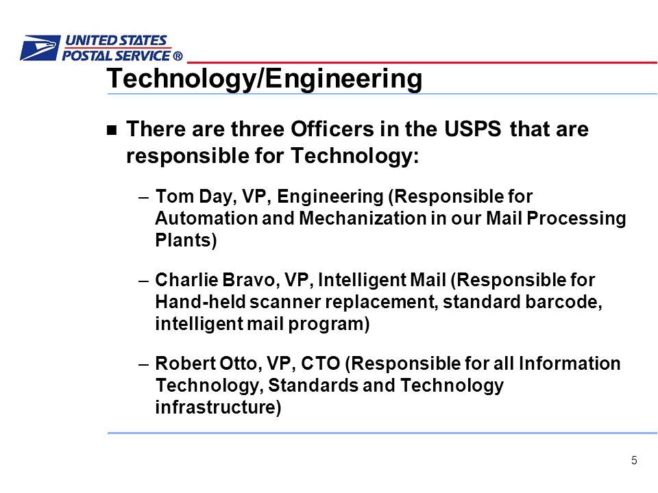 United States Postal Service Information Technology - ppt
