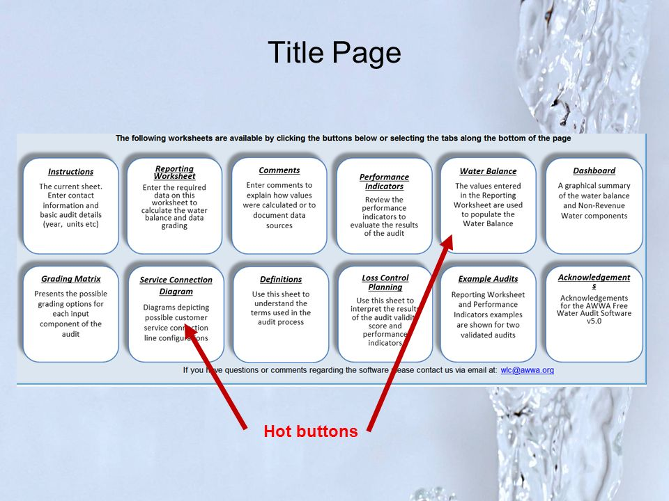 "Water Audits: A simple ""How To…"" - ppt video online download"