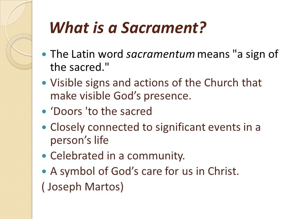 Teaching Sacraments In The Classroom Ppt Video Online Download
